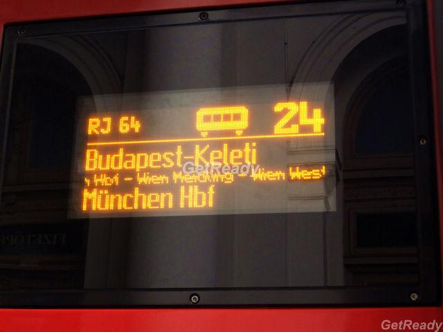 布達佩斯到維也納火車 OBB