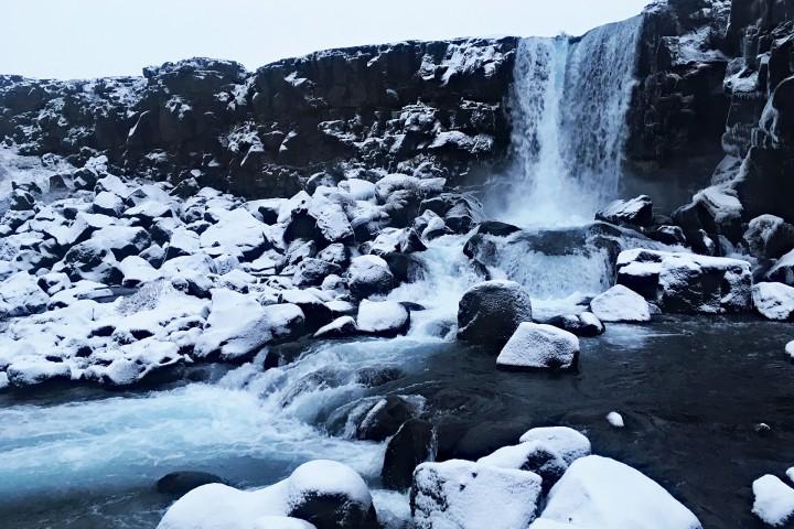 Öxarárfoss瀑布 冰島